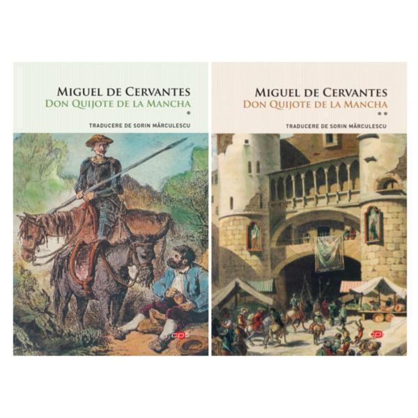 Volumul 1Considerat&259; în unanimitate una dintre cele mai amuzante &537;i în acela&537;i timp tragice c&259;r&539;i care s-au scris vreodat&259;Don Quijote de la Manchaeste o cronic&259; a faimoaselor aventuri picare&537;ti ale nobilului cavaler r&259;t&259;citor Don Quijote &537;i ale credinciosului s&259;u scutier Sancho Panza Împreun&259; cei doi c&259;l&259;toresc prin Spania secolului al XVI-lea în c&259;utarea
