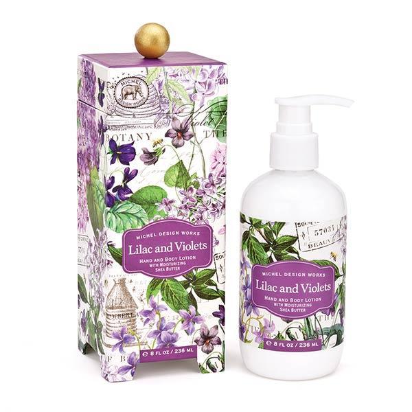 MDW lotiune corp si maini Liliac and Violets LOT286Lotiune pentru corp si mainidin cele mai bune ingredinteLotiunea este imbogatita cu unt de shea aloe si alte ingrediente din plante atent selectionateCatifeleaza si hidrateaza pielea chiar si foarte uscataAroma liliac salbatic ci violete