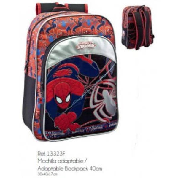 Ghiozdanul Spiderman este foarte practic si incapator avand 1 compartiment principal si unul secundar in partea din fata