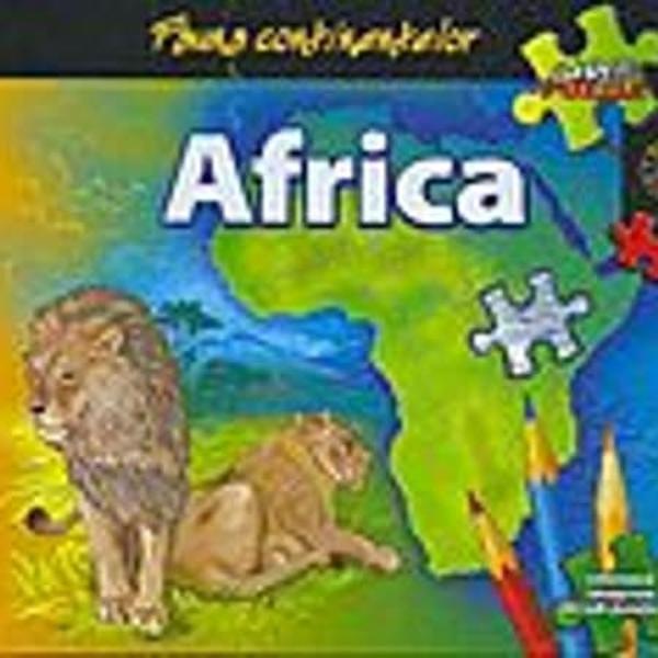 Fauna Continentelor Africa carte puzzle