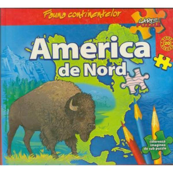 Fauna Continentelor America Nord carte puzzle