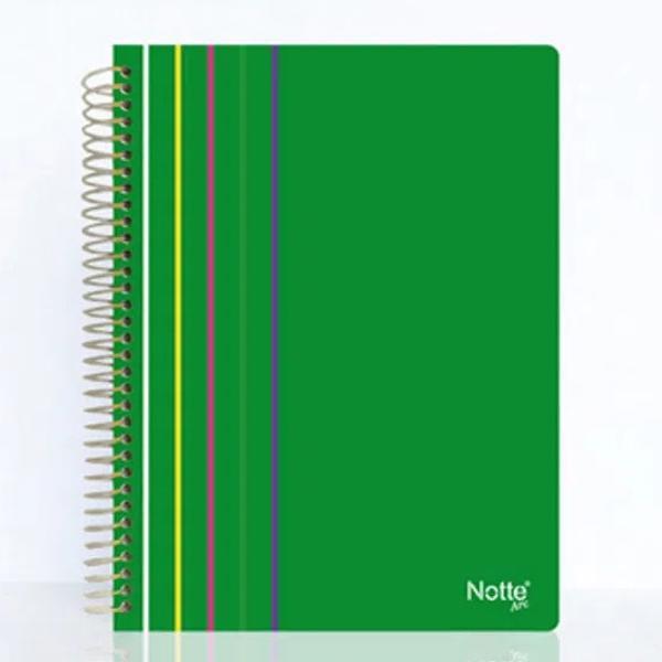 Caiet Notte Arc coperta PP cu spira 100 file matematica Format A4 Diverse culori Hartie gramaj 60 grmp