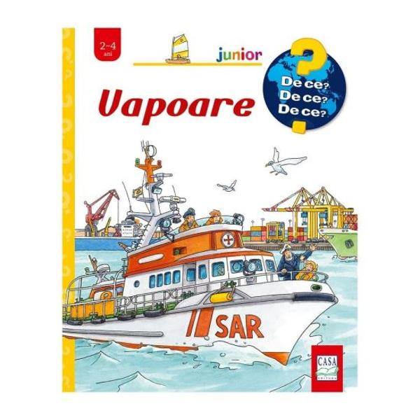 Copiii au mii de întreb&259;ri- Ce se întâmpl&259; într-un port- Ce vapoare navigheaz&259; pe râuri- Cum se construiesc vapoareleAcest volum din seria De ce De ce De ce îi c&259;l&259;uze&537;te pe micii cititori în lumea plin&259; de aventuri a vapoarelor &537;i a porturilor Cei mici vor afla o sumedenie de informa&539;ii interesante despre navigarea pe ap&259; despre munca