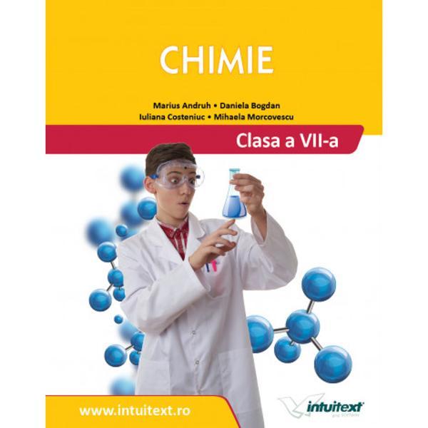 Manualul de Chimie pentru clasa a VII-a a ob&539;inut cel mai mare punctaj tehnic fiind situat pe primul loc din punct de vedere al calit&259;&539;ii Este conceput în conformitate cu programa &537;colar&259; &537;i este structurat încinci unit&259;&539;i de înv&259;&539;areAutorii manualuluireu&351;esc s&259; îmbine în mod creativ con&355;inuturile programeide chimie