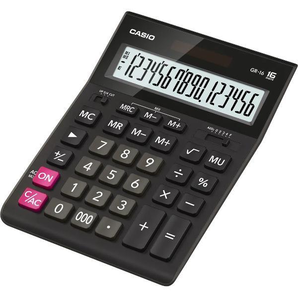 Calculator de birou Casio GR-16-W-EP 16 digits negru