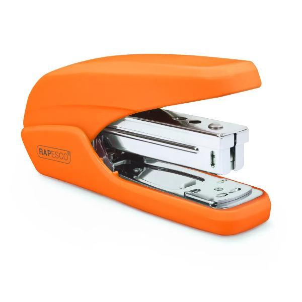 Capsator Rapesco X5-25ps Capsator de birou eficient si compact Capacitate 25 coli 80gsm Efortul depus pentru capsare este redus cu 60 datorita tehnologiei de capsare asistata Din plastic Se utilizeaza impreuna cu capse dure 266 246 Adancimea de capsare 59mm