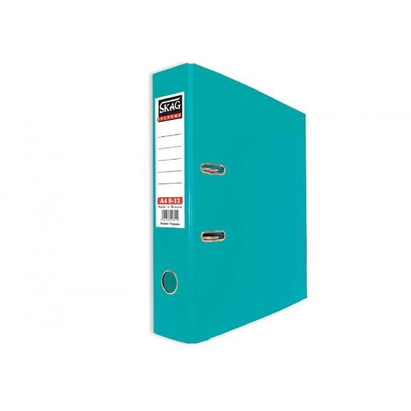 Biblioraft Skag PP A4 8 cm Disponibil in culori vii ce iti vor lumina camera sau biroul aceste bibliorafturi sunt color atat la exterior cat si la interior Sina metalica din partea inferioara impreuna cu plastifierea exterioara dar si interioara a biblioraftului sporesc durabilitatea acestuia Este prevazut cu mecanism metalic si buzunar din plastic pe cotor pentru etichete interschimbabile ce te ajuta la identificarea mai rapida si mai usoara a continutului Capacitate 350  600 coli