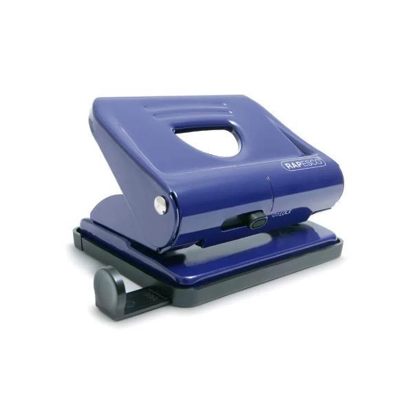 Perforator metalic Rapesco 22 coli albastru