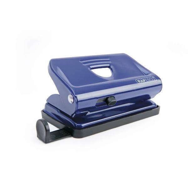 Perforator metalic Rapesco 12 coli albastru