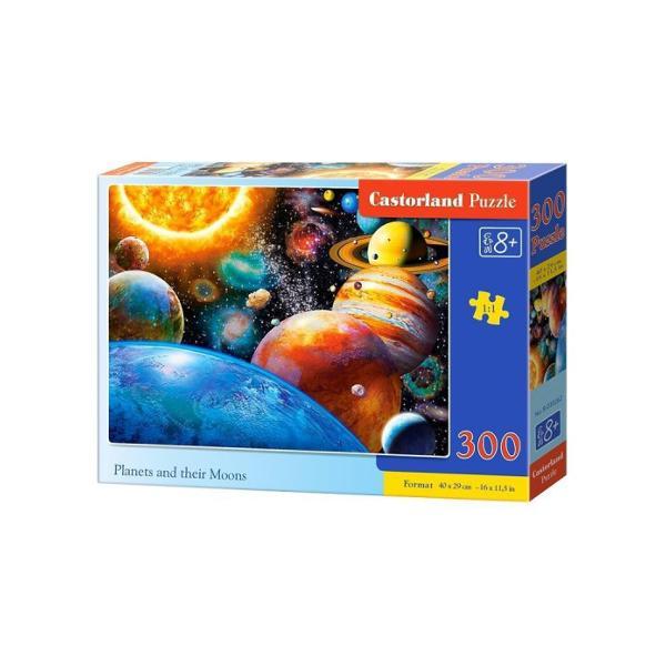 Planete Si Lunile Lor Puzzle Castorland 300 PieseDimensiuni cutie325×225×5cmDimensiune puzzle 40×29cm