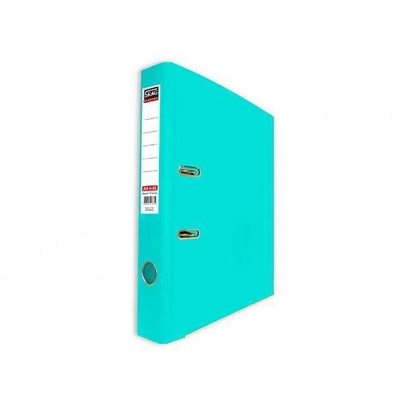 Biblioraft Skag PP A4 5 cm Disponibil in culori vii ce iti vor lumina camera sau biroul aceste bibliorafturi sunt color atat la exterior cat si la interior Sina metalica din partea inferioara impreuna cu plastifierea exterioara dar si interioara a biblioraftului sporesc durabilitatea acestuia Este prevazut cu mecanism metalic si buzunar din plastic pe cotor pentru etichete interschimbabile ce te ajuta la