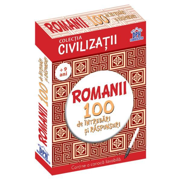 100 de &238;ntreb&259;ri &537;i r&259;spunsuri despre istoria &537;i cultura romanilorCon&539;ine o carioc&259; lavabil&259; pentru a r&259;spunde la &238;ntreb&259;ri &537;i a v&259; verifica la urm&259;Verifica&539;i &537;i cuno&537;tin&539;ele prietenilor Specifica&539;ii50 de jetoane fa&539;&259;-verso1 carioc&259; lavabil&259;M&259;rimi Jetoane 97 x 15 cm  Cutie 113 x 158 cm