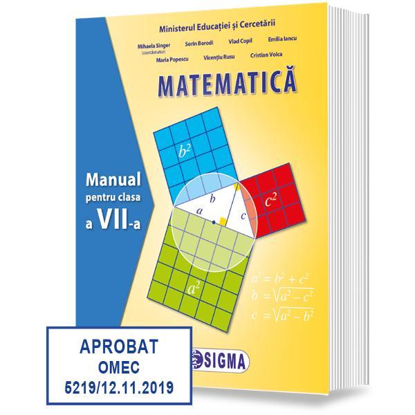 Manualul de matematic&259; pentru clasa a VII-a al Editurii Sigma câ&537;tig&259;tor al locului I la licita&539;ia de manuale &537;colare organizate de Ministerul Educa&539;iei Na&539;ionale ofer&259; elevilor &537;i profesorilor un instrument excep&539;ional de înv&259;&539;are care acoper&259; întreaga distan&539;&259; dintre conceptele matematice subtilit&259;&539;ile de ra&539;ionament &537;i aplica&539;iile în via&539;a