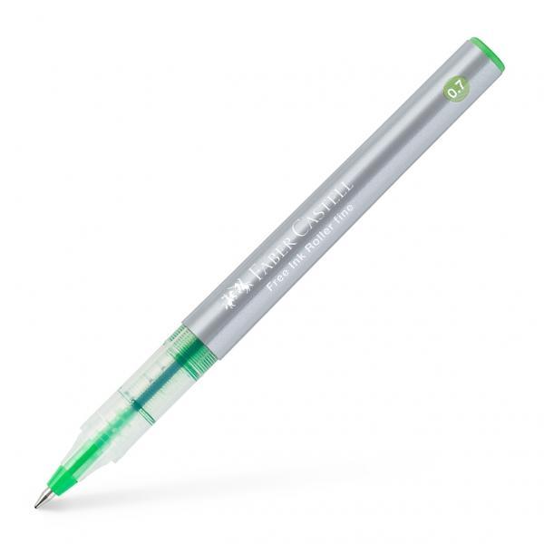 Rollerul Free Ink - o combinatie intre pix si stilou cu flux continuu de cerneala si culori puternicevârf conicfereastr&259; pentru vizualizarea nivelului de cerneal&259;document proof culorile portocaliu ro&537;u albastru verde negrulinie de grosime F