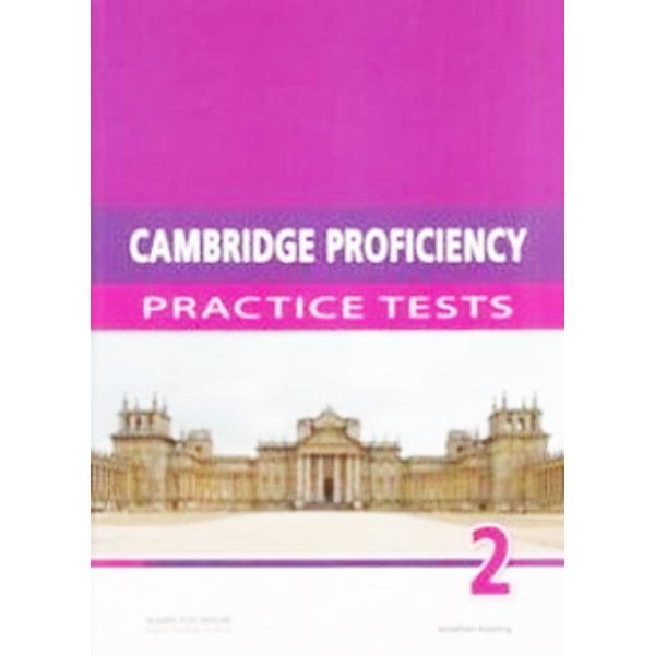 Cambridge Proficiency Practice Testshave been specifically written for the updated 2013 Cambridge Proficiency in English examination The tests have been designed to familiarise students with the exact format of the updated exam as well as to expand their vocabulary and to improve the skills required to pass the examinationCambridge Proficiency Practice Testscontain• six complete practice tests for the updated