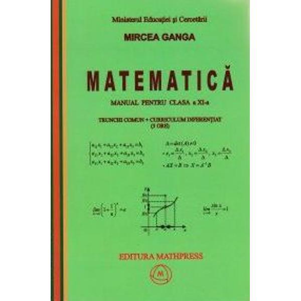 Ganga XI matematica TCCD 3 ore