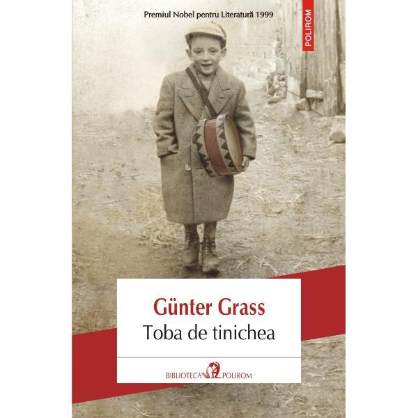 Premiul Nobel pentru Literatur&259; 1999Toba de tinichea romanul care a &351;ocat Germania &351;i a devenit bestseller interna&355;ional a fost ecranizat în 1979 de regizorul Volker Schlöndorff Pelicula a primit Premiul Palme d'Or la Festivalul de la Cannes &351;i Premiul Oscar pentru cel mai bun film str&259;inCapodopera lui Günter Grass Toba de tinichea este