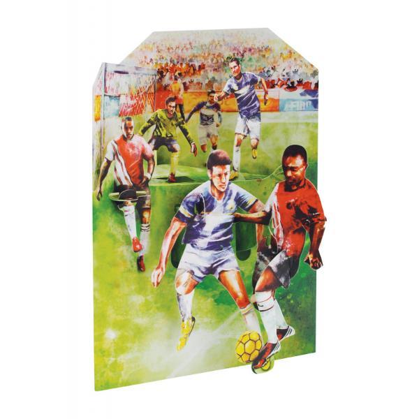 Felicitare 3D Swing Cards - FotbalFelicitarea 3D Swing Cards &8211; Fotbal este o felicitare din carton de inalta calitate foarte bine detaliata cu elemente mobile care dau viata jucatorilorCaracteristiciDimensiune felicitare 15x20 cmBrand Santoro LondonCaracteristici speciale carton de cea mai buna calitate felicitare tridimensionala cu elemente mobile vedere din fata si din spate cu doua perspective asupra produsului spatiu pentru scriere mesaj plic sidefat pentru a
