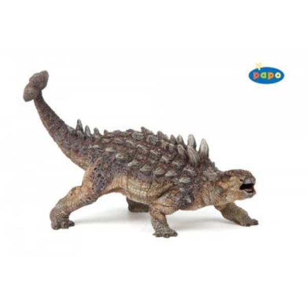 Figurina Papo-Dinozaur AnkylosaurusJucarie educationala realizata manual excelent pictata si poate fi colectionata de catre copii sau adaugata la seturile de joaca cum ar fi animale preistoriceetcUn excelent stimulent pentru a extinde imaginatia copiilor dezvoltand multe oportunitati de joacaNu contine substante toxiceDimensiuni Lx l x h&160; 20 x 6 x 14 cmVarsta 3 aniAsemeni tuturor figurinelor Papo mamutul este pictat manual vopselurile folosite respecta standardele europene de