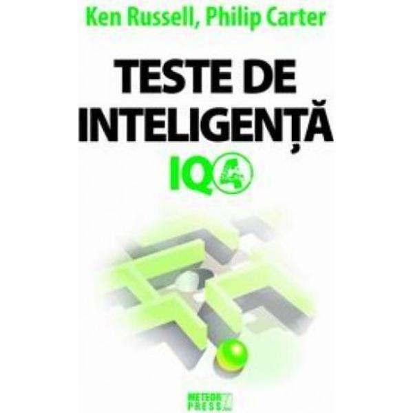 Doriti sa va exersati si sa va dezvoltati aptitudinile intelectualeDoriti sa va imbunatatiti punctajul IQ Indragita serie a cartilor cu teste IQ continua Teste de inteligenta IQ-4 contine 400 de intrebari nou-noute Intrebarile sunt tipice pentru cele pe care le veti intalni in testele IQ reale si sunt organizate in 10 teste fiecare alcatuit din cate 40 de intrebari la care se adauga un indrumar pentru evaluarea rezultatelor Exersand diferitele tipuri de intrebari si invatand sa