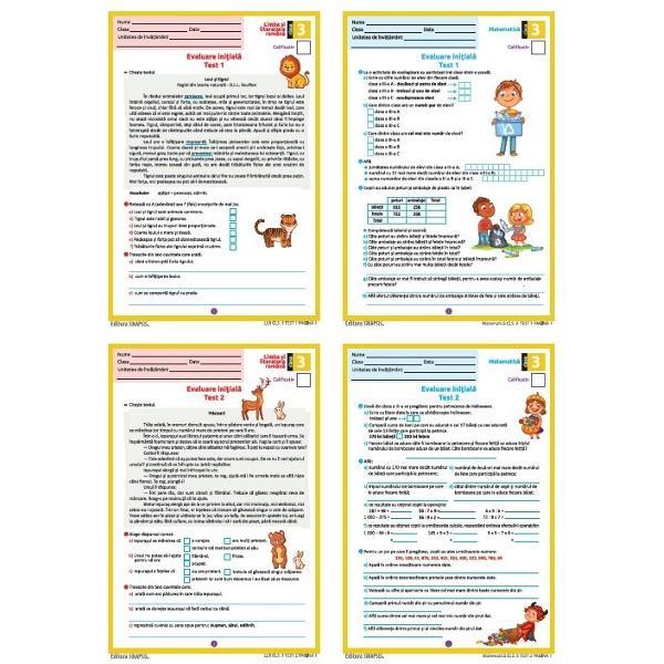 Materialul se prezint&259; sub forma unui set compus din2 x Test de evaluare ini&539;ial&259; pentru disciplina Limba &537;i literatura român&259;2 x Test de evaluare ini&539;ial&259; pentru disciplina Matematic&259;Fiecare test are dou&259; pagini &537;i este înso&539;it de solu&539;ii variant&259; pdf interactiv GRATUIT&258; - acestea se pot desc&259;rca de pe site-ul nostru din documenta&539;ia produsuluibr