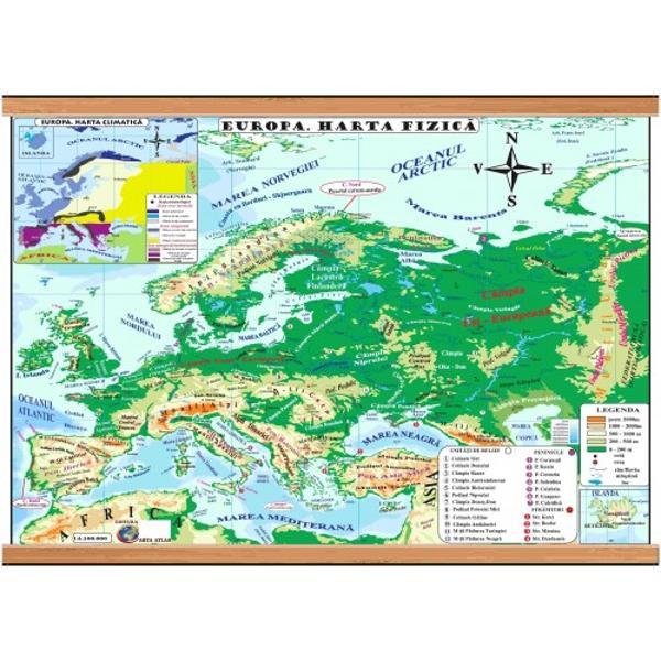 EUROPA HARTA FIZICAEUROPAHARTA POLITICAHARTA ARE FORMATUL 500x700 mmPLASTIFIAT&258; FA&538;&258;VERSOspan stylecolor
