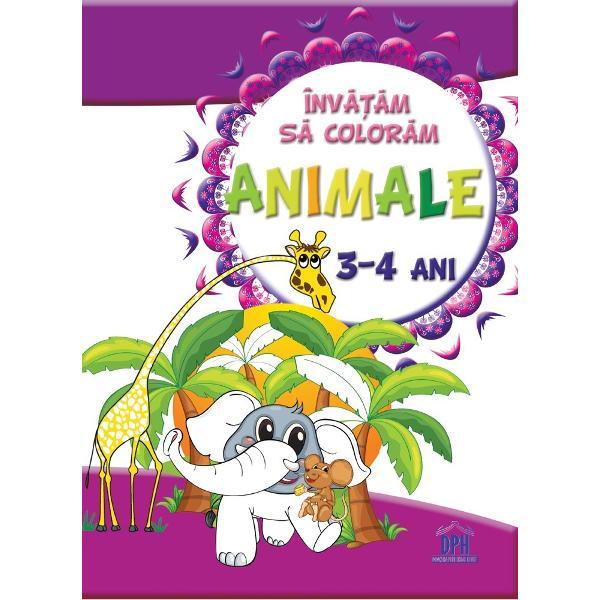Invatatm sa coloram animale - 3-4 ani