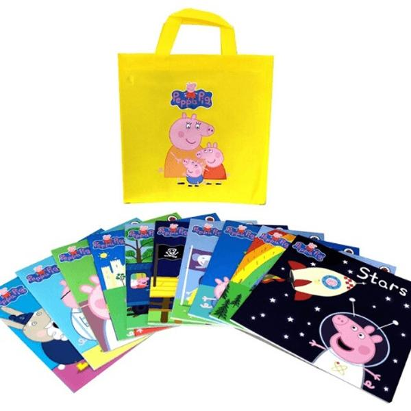 Come join Peppa and her all her friends as they explore and play in this collection of ten books div