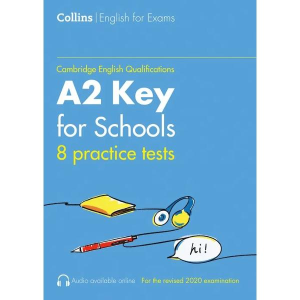 All the practice you need for a top score in the Cambridge English A2 Key for Schools qualificationWith the realistic test papers and helpful advice in Collins Practice Tests for A2 Key for Schools KET for Schools you will feel confident and fully prepared for what to expect on the day of the test It contains• 8 complete practice tests fully updated for the revised 2020 exam specification• Answer keys and model answers• Additional
