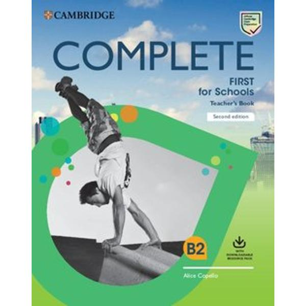 Complete First for Schools is the most thorough preparation for B2 First for SchoolsThis Teachers Book contains detailed teachers notes answer key and extra teaching ideas The Downloadable Resource pack includes Class Audio access to B2 First for Schools Speaking Test Videos and worksheets containing extra skills practice for the exam and extension skills work to stretch students further