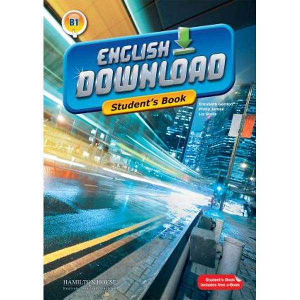English Download is an exciting new multi-level course The Intermediate level is suitable for students working to achieve an B1 level of competence within the Common European FrameworkKey featurestheme-related units each containing carefully developed tasks designed to develop students reading writing listening and speaking skills as well as build on their vocabulary and grammarReload sections one at the end
