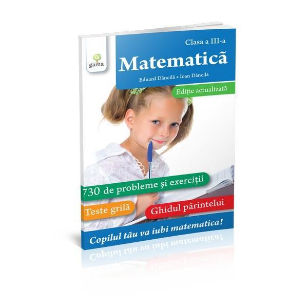 """Lucrarea reprezint&259; o metod&259; practic&259; modern&259; &351;i actual&259; care-l va ajuta pe copil s&259; iubeasc&259; &351;i s&259; lucreze cu pasiune matematicaVolumul con&539;ine730 de exerci&355;ii &351;i probleme concepute cu grij&259; &351;i atent selectate de autori &537;i este înso&539;it de teste-gril&259; &537;i de un""""Ghid al p&259;rintelui""""deta&537;abil"""