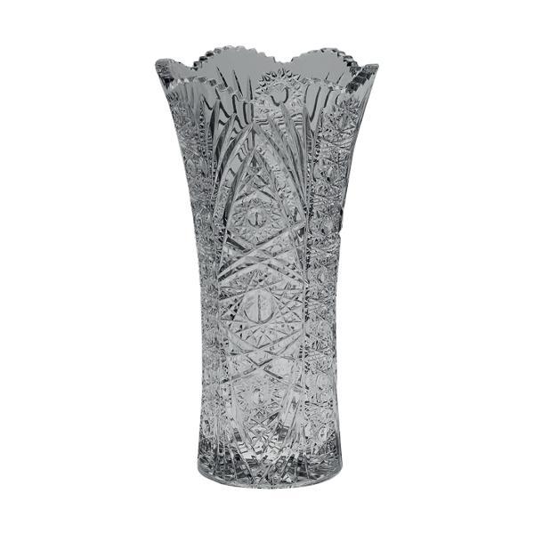 Vaza din cristal de Bohemia de 22 de centimetri