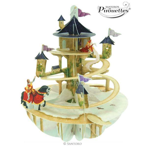 Felicitare 3D Pirouettes Santoro-Turnul printesei&160;Felicitarea 3D Pirouettes Santoro-Turnul printesei se deschide prin simpla rotire a manerului in jurul axei bazei Daruieste un cadou care va fi apreciat mult timpCaracteristiciDimensiune felicitare 20x15 cmBrand Santoro LondonCaracteristici speciale carton de cea mai buna calitate felicitare tridimensionala vedere din toate unghiurile se poate plia pentru a putea fi expediata in plic spatiu pentru scriere mesaj atentie la