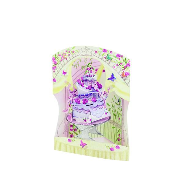 Felicitare 3D Swing Cards dinamica&160;- Tort aniversarFelicitarile 3D Swing Cards sunt cele mai detaliate bine concepute si interesante felicitari pe care le veti vedea vreodata O gama de felicitari tip pop-up multi-premiata sunt felicitari 3D interactive vin gata asamblate se deschid pentru a forma intr-un mod incredibil&160;forme&160;3D au&160; spatiu pentru mesajulDimensiunea 15 x 20 cm