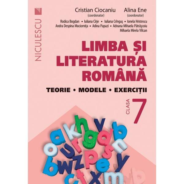 Limba si literatura romana clasa a VII a teorie modele de exerciti