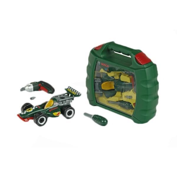 Set masinuta Klein Bosch Ixolino Grand PrixJucarie pentru copiiTrusa cu masinuta si scule Grand Prix Ixolino BoschEmite sunet