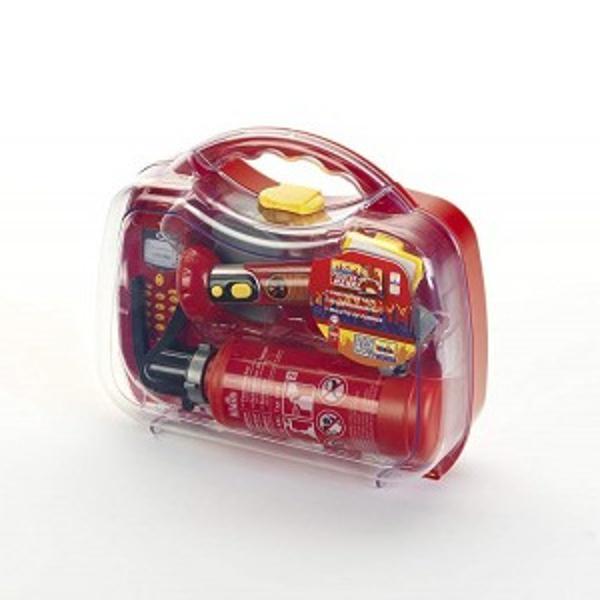 Trusa de pompier - Pompierul Henry - 7 pieseContine Stingator lanterna cu baterii telefon mobil topor ecuson si fluierVarsta recomandata 3 ani Produs in Germania