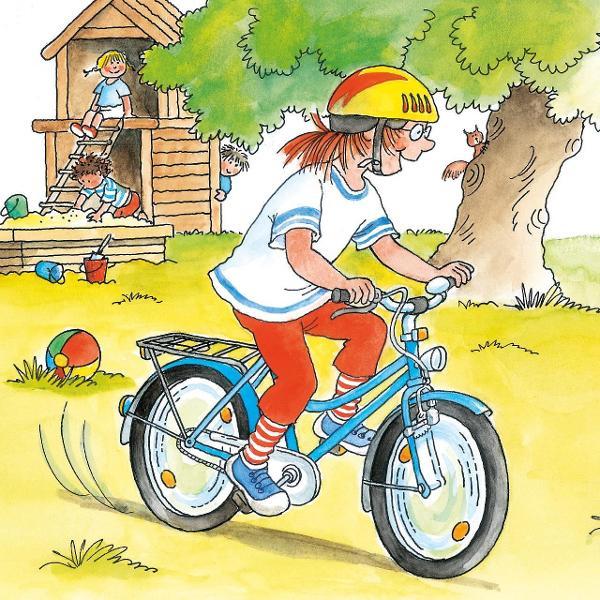 Deoarece Conni merge acum atât de bine pe biciclet&259; tata &537;i mama fac duminic&259; împreun&259; cu ea un tur cu bicicletele Acum doar Iacob mai trebuie s&259; stea în scaunul de copii Conni merge f&259;r&259; ro&539;i ajut&259;toare pe noua ei biciclet&259; ro&537;ie Iar când mama întinde mâna pentru a ar&259;ta c&259; vrea s&259; coteasc&259; Conni face la fel