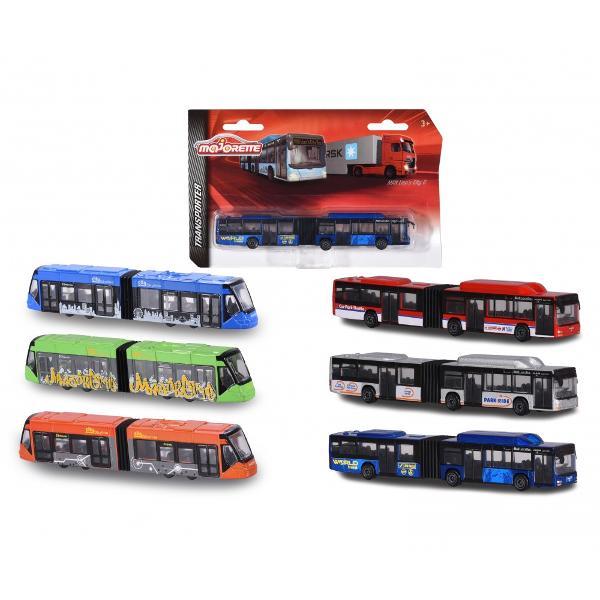 Tramvai Siemens Avio Tram este confectionat din metal si plastic are parti mobile si detalii viu colorateFie ca este vorba de tramvai autobuz sau tren vehiculele sunt piese de baza in colectia oricarui baiat pasionat de macheteColectia Man Lions City BuS & Tramvai Siemens Avio Tram de la Majorette include 6 piese de colectieTe rugam sa specifici modelul pe care il doresti la plasarea comenzii Pretul afisat este per