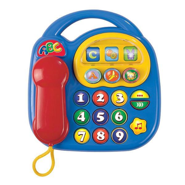 Amuzati-va cu noul telefon muzicalApasati pe toate tastele si ascultati sunetele specificeCopiii vor fi atrasi de culorile vii si de butoanele telefonului