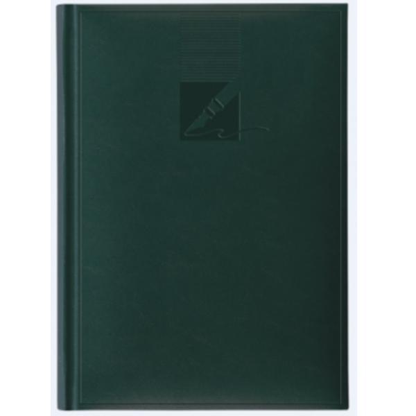 Agenda nedatata A5 224 pagini coperta buretata personalizabila culoare verde