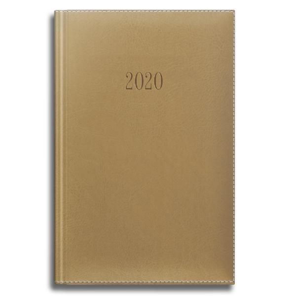 Agenda datata RO A5 model DeLuxe 352 pagini coperta din piele sintetica culoare negru 2021