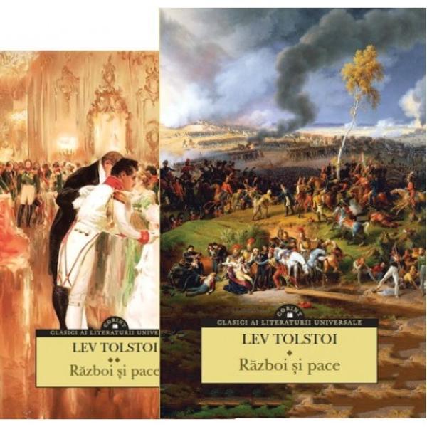 """Colec&539;ia Corint Clasici ai literaturii universale aduce o nou&259; carte memorabil&259; în bibliotecile adul&539;ilor pasiona&539;i de literatur&259; clasic&259;R&259;zboi &537;i pacevol I &537;i volumul al II-lea de Lev Tolstoi""""M&259; pasioneaz&259; istoria lui Napoleon &537;i Alexandru Ideea de a scrie o istorie psihologic&259; − romanul lui Napoleon &537;i Alexandru − con&537;tiin&539;a"""