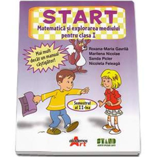 Prin aceasta lucrare dam START explorarii mediului inconjurator prin intermediul matematiciiManualul acopera toate continuturile programei scolare tratandu-le integrat si folosind o paleta intreaga de elemente ale invatarii prin joc si descoperire Adresarea este directa folosindu-se un limbaj adecvat nivelului de varsta al elevilorSecventele de predare-invatare-evaluare sunt armonizate prin