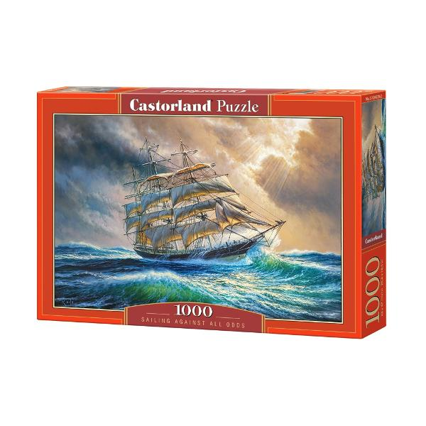Puzzle Castorland Navigand impotriva sanselorDimensiune ambalaj 35 x 25 x 5 cmDimensiune puzzle asamblat 68 x 47 cm