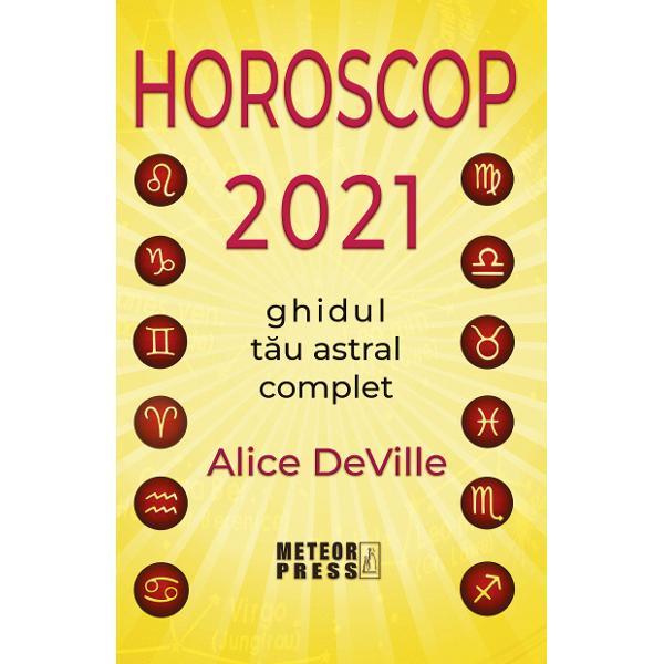 Descriere carteAnaliza astrologica a anului 2021 este insotita de sfaturile lui Alice DeVille pentru nativii tuturor zodiilor astfel incat sa infruntati in cunostinta de cauza provocarile astrale luna de luna gasind cele mai bune oportunitati pentru a va realiza obiectivele personaleIndicatiile astrologice detaliate evidentiaza cele mai potrivite conjuncturi astrale atunci cand urmariti un anumit scop de natura