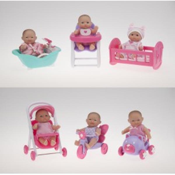 Bebelusi micuti cu diferite accesoriiSase bebelusi draguti si zambitori vor fi parteneri ideali al fetitei dumneavoastraAcesti bebelusi vin accesorizati pentru ca jocul cu ei sa fie mai distractivDimensiune13 cmVarsta recomandata2p stylecolor 646464;