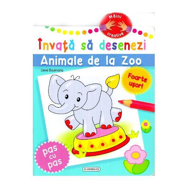 Maini creative• invata usor de desenezi animale de la zoo elefant leu urs papagal broasca testoasa girafa maimuta cangur camila pinguini foca panda zebra crocodil rinocer delfin• pentru copiii activi si creativi• bazata pe linii si forme simple• incurajeaza creativitatea• o metoda simpla pentru incepatori