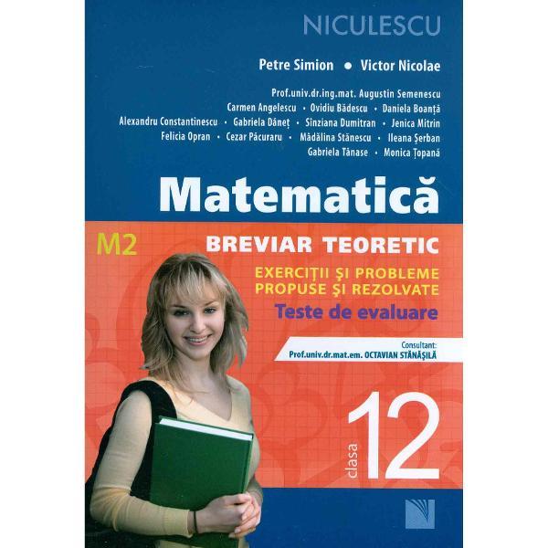 Realizat&259; în conformitate cu programa &351;colar&259; în vigoare lucrarea reprezint&259; un excelent suport pentru o preg&259;tire foarte bun&259; a elevilor Valoarea materialului rezid&259; în structura pe lec&355;ii fiecare cuprinzând• Un breviar teoretic cu defini&355;ii teoreme propriet&259;&355;i exemple &351;i aplica&355;ii rezolvate;• Exerci&355;ii &351;i